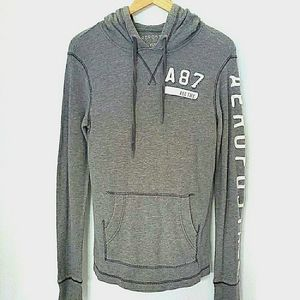 Aeropostale Gray Sweater with Hoodie sz XS